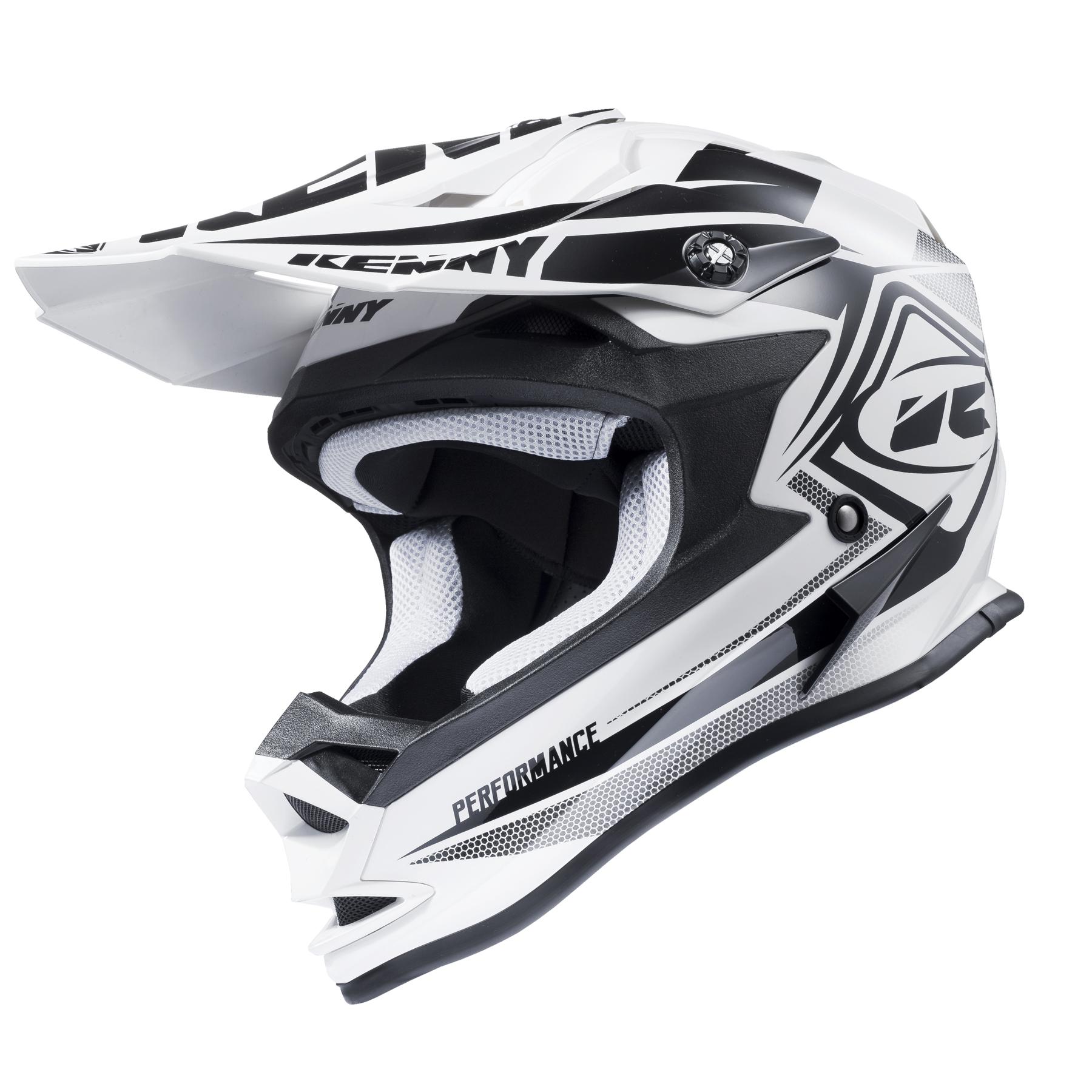 kenny performance 2017 helmet white black xl motodeluxe. Black Bedroom Furniture Sets. Home Design Ideas